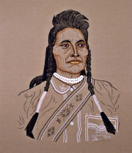Emily Prince - Chief Joseph of the Nez Perces, Embroidery, 2009