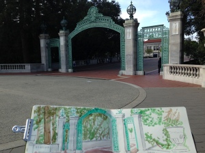 Sather Gate and Sketchbook